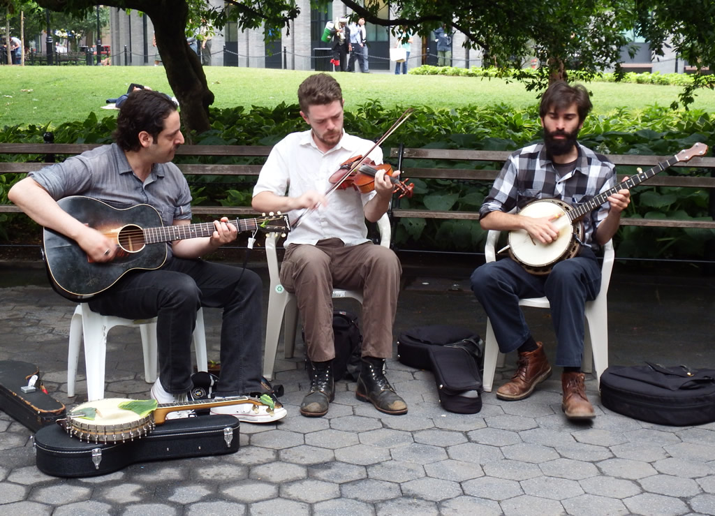 Busking in Washington Square today