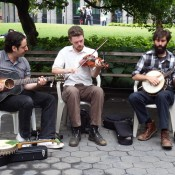 Buskers in Washington Square